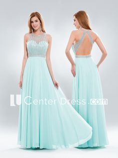 A-Line Maxi Scoop-Neck Sleeveless Chiffon Keyhole Dress With Beading And Pleats Tiffany Wedding, Blue Wedding, Keyhole Dress, Prom Dresses, Formal Dresses, Tiffany Blue, Beading, Scoop Neck, Chiffon