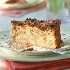 Our Best Apple Recipes   Cinnamon-Apple Cake Originally appearing in an issue from 1997, this Cinnamon-Apple Cake is one of our most loved recipes and can be served as dessert or a breakfast coffee cake. The cream cheese in the batter gives the cake lots of moisture. We recommend   using Rome Apples