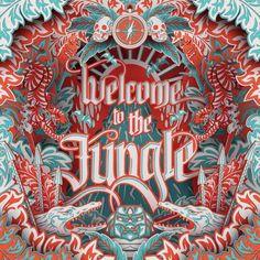 3d - locandina - presentazione - flyer - livelli - jungle - teatro - profondità - collage