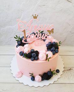 Birthday cake 🎂 🌹 buttercream cream cake decorating roses and cake girly cake golden leaf cake inspiration home made cake – Artofit Pretty Cakes, Cute Cakes, Beautiful Cakes, Amazing Cakes, Baking Cupcakes, Cupcake Cakes, Deco Fruit, Cakes For Women, Cake Decorating Tips