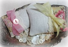 vintage French linen and lavender sachets