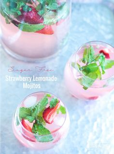 Low Carb Strawberry Lemonade Mojitos ★★★★★5 from 2 reviews These easy and refreshing sugar free strawberry lemonade mojitos have been my go to keto cocktail all summer long! Author: Mellissa SevignyYield: 5 cocktailsCategory: Low Carb Cocktail RecipeCuisine: Latin American INGREDIENTS 4 cups sugar free strawberry lemonade (prepared according to package directions) 1 cup white rum 1/4 cup fresh mint, torn and mashed a bit to release the flavor optional strawberries to garnish INSTRUCTIONS…