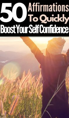 50 Affirmations To Boosts Your Confidence Quickly| Affirmations are a great way to build confidence. Reciting positive self affirmations daily can quickly boost your self-love. Adding affirmations into your daily practice will help you feel happiness and inspirations. Positive self affirmations | self love affirmations happiness | self affirmations positive | #affirmations #selflove #confidence Affirmations For Anxiety, Positive Self Affirmations, Positive Psychology, Positive Mindset, Positive Life, Confidence Building, Self Confidence, Words Of Affirmation, Negative Self Talk