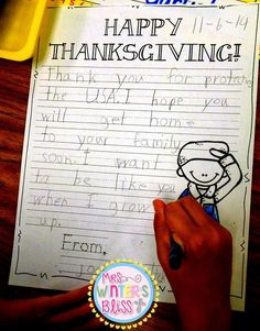 Mrs. Winter's Bliss: Letter Writing (Thanksgiving writing prompt)