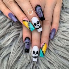 Holloween Nails, Cute Halloween Nails, Halloween Acrylic Nails, Halloween Nail Designs, Halloween Halloween, Halloween Recipe, Women Halloween, Halloween Decorations, Halloween Projects