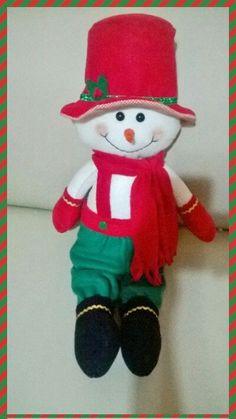 Muñeco de nieve, hecho en polar.