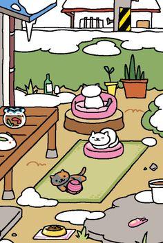 Marshmallow, Snowball & Spooky   Neko Atsume