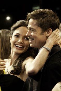 """Angelina & Brad """"Repinned by Keva xo""""."""