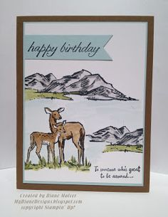 MyDiane Designs: Birthday in the Meadow, In the Meadow, Birthday Blossoms, Stampin' Up!