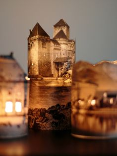 Handmade lanterns that look like mysteriously glowing romantic castles and house at night are a surprisingly simple diy project Cool Diy, Easy Diy, Simple Diy, Super Simple, Handmade Lanterns, Photo Lamp, Diy And Crafts, Paper Crafts, Diy Paper