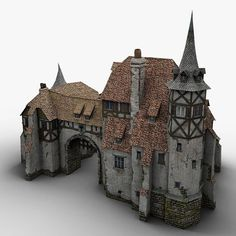 Medieval Warehouse Model available on Turbo Squid, the world's leading provider of digital models for visualization, films, television, and games. Medieval Houses, Medieval Town, Medieval Castle, Medieval Fantasy, Fantasy Castle, Fantasy House, Casa Estilo Tudor, Chateau Moyen Age, Zombicide Black Plague