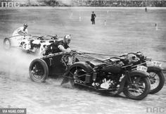 Some Australian policemen from 1936 racing in motorcycle chariots…They shall ride through the gates of valhalla SHINY AND CHROME!!!