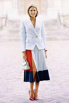 Inspiração de look com saia blog a v