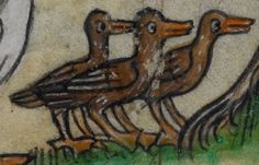 Detail from medieval manuscript, British Library Stowe MS 17 'The Maastricht Hours', f210r