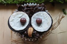 """I could've tagged this picture as """"animals"""", """"owls"""", but come on, isn't that the coolest cupcake EVER?"""
