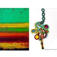 Bracelet with oil painting by Kuba Żegliwski