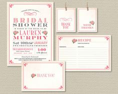 Printable Bridal Shower Invitation Party Pack  by rosiedaydesign, $25.00