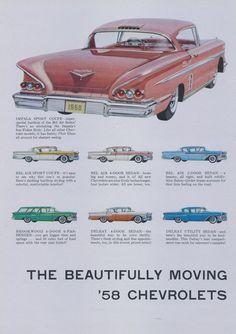 1958 Chevrolet Impala Sport Coupe Car Ad Chevy by AdVintageCom