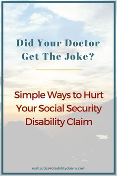 Did you know that what you say to your doctor can hurt your Social Security Disability claim? Learn how to fix your medical records before your next visit and increase your chances of winning your disability claim. Disability Help, How To Fix Depression, Living With Depression, Disability Application, Living With Autism, Self Advocacy, Multiple Sclerosis Awareness, Social Security Benefits
