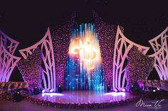 V Concept by Misa Vu Luxury Events Concert Stage Design, Wedding Stage Design, Church Stage Design, Stage Decorations, Flower Decorations, Dramatic Arts, Wedding Logos, Stage Set, Scenic Design