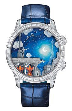 Van Cleef and Arpels hand painted Poetic Wish watch