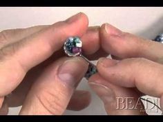 Joining tubular bead crochet by Julia Gerlach, part two - YouTube