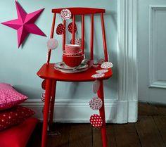 Girlande in weihnachtlichen Farben -  Weihnachtsdeko selber machen 10
