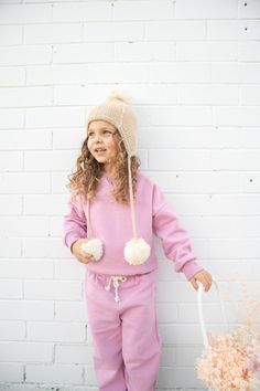Keely Tracksuit Top Juni Pant Blossom Loungewear Outfits, Loungewear Set, Autumn Summer, Fall Winter, Spring, Baby Girl Accessories, Tracksuit Tops, Lounge Wear, Kids Fashion