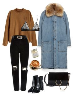 """Autumn"" by citywolff ❤ liked on Polyvore featuring H&M, River Island, Topshop, Yves Saint Laurent and Brooklyn Candle Studio"