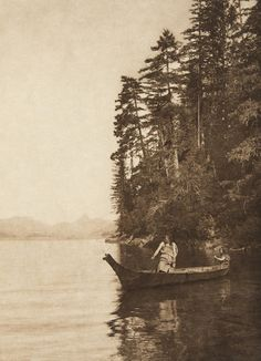 The shores of Nootka (The North American Indian, v. XI. Cambridge, MA: The University Press, 1916) by Edward Sheriff Curtis from USC Libraries