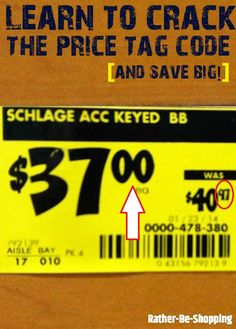 Retailer's Big Secret: Crack the Price Tag Code - Finance tips, saving money, budgeting planner Best Money Saving Tips, Ways To Save Money, Money Tips, Saving Money, How To Make Money, Frugal Living Tips, Frugal Tips, Preparing For Retirement, Savings Planner