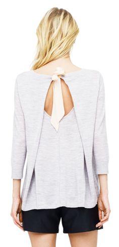 Leonie Silk Tie Merino Sweater