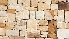 How to shape sandstone blocks - Better Homes and Gardens Diy Garden Projects, Outdoor Projects, Garden Retaining Wall, Retaining Walls, Sandstone Wall, Natural Stone Wall, Dry Stone, Rock Wall, Home Landscaping