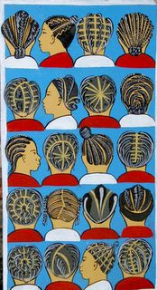 Braiding salon sign, Africa, country unknown. check out images http://www.hairbraidingnetwork.com/photo