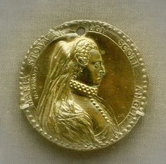 Lead medal of Mary Queen of Scots British Museum ca 1572.