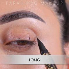 Eyebrow Makeup Tips, Eye Makeup Steps, Makeup Eye Looks, Cat Eye Makeup, No Eyeliner Makeup, Skin Makeup, Beauty Makeup, Eyeliner Hacks, Perfect Winged Eyeliner