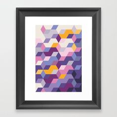 Violet Pattern Framed Art Print
