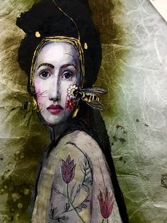 Katarína Vavrová artist Claudia Tremblay, Art Costume, Unusual Art, Abstract Painters, Portrait Art, Portraits, Art For Art Sake, Portrait Inspiration, Figure Painting