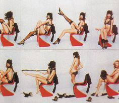 panton chair   «How to undress in front of my husband»  1970 nova magazine