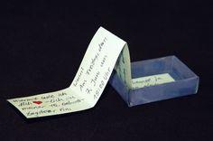Streichholzschachtel-einladung. Weitere Ideen auf http://liebenswertekleinedinge.blogspot.de/