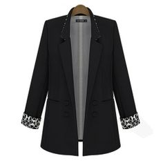 MENGGELE Ladies Slim Fit Mid Long Style Blazer in Back - Blue Products- - TopBuy.com.au