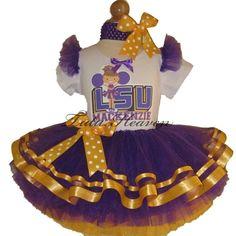 Louisiana Purple Cheerleader Tutu Set   TuTu Heaven