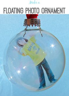 DIY Floating Photo Ornament