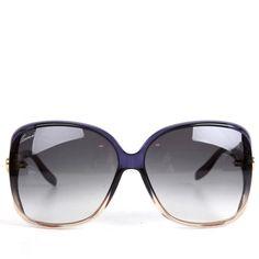 Gucci Womens Blue Fade Detail Small Heart Logo Sunglasses