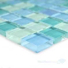 Pool Supply Unlimited has some of the best prices when shopping for Artistry In Mosaics Crystal Series - Turquoise Blue Blend Glass Tile Blue Glass Tile, Sea Glass Colors, Glass Mosaic Tiles, Lake House Bathroom, Glass Kitchen, Kitchen Art, Kitchen Wall Colors, Bath Tiles, Pool Supplies