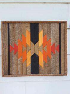 Rustic Reclaimed Wood Wall Art Santa Fe Style Decor Lath