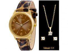 6d303929574 Relógio Feminino Lince Analógico - Resistente à Água LRC4301LK106M2T com  Bijouteria