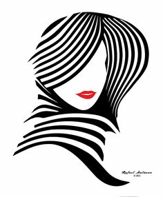 Woman Chic In Black And White Digital Art by Rafael Salazar