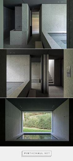 wellness area - vdc residence in kortijk belgium by vincent van duysen - natural stone by eggermont