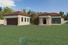 3 Bedroom House Plans South Africa | House Designs | NethouseplansNethouseplans House Plans For Sale, House Plans With Photos, Small House Plans, Three Bedroom House Plan, Bedroom House Plans, Tuscan House Plans, Double Storey House Plans, Built In Braai, House Plans South Africa